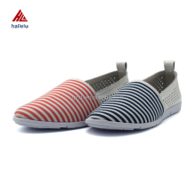 Size 35-40 Summer Cool Slip-on Flat Rubber Outsole Women Air Holes Breathable Casual Walking Shoes