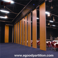 Exhibition Temporary sliding partitioning door operable for conference room