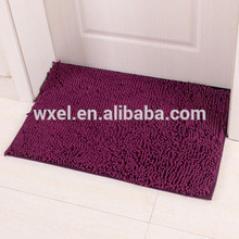 cheap microfiber purple soft polyester floor chenille shaggy carpet