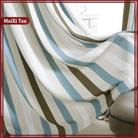 colorful stripe chenille living room curtains spaghetti and valance,old fashioned non flammable khadi islamic curtains fabric