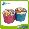 Cartoon innovative folding kids furniture lighted cube storage ottoman