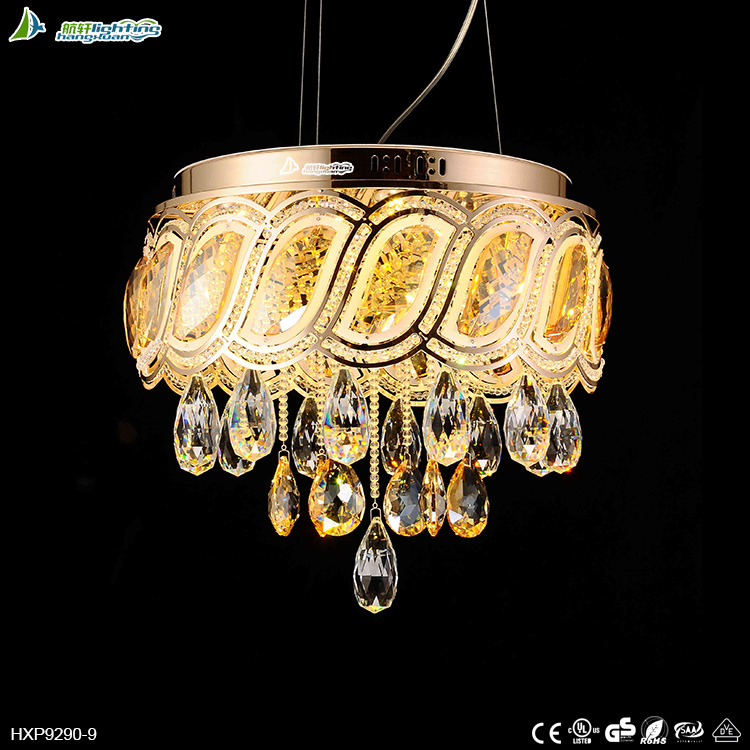 new product modern round crystal pendant led chandelier lamp