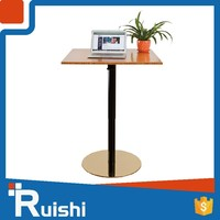 Office Furniture 2016 Latest Deisgn Sit Stand Anti-collision Stainless Steel Tea Table