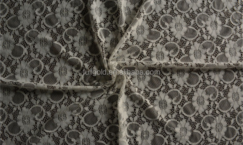 nylon white rose french lace fabric for dresses
