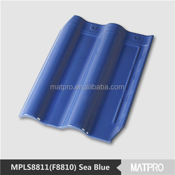 synthetic resin shingle blue ceramic kerala roof tile prices
