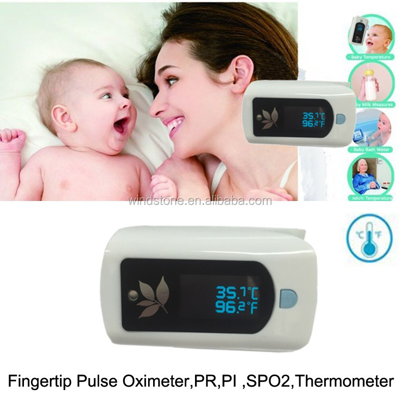 Easy Use Baby Thermometer Health Tracker Pulse Oximeter With Temperature