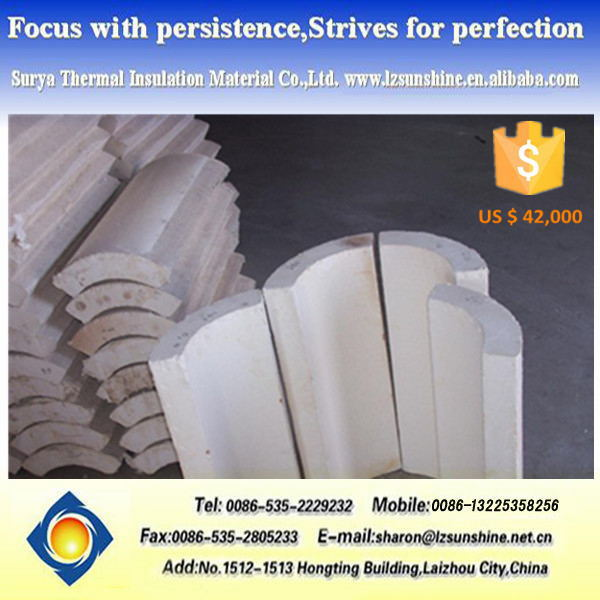 Fireplace Parts Insulation Materials Calcium Silicate Pipe Cover ...