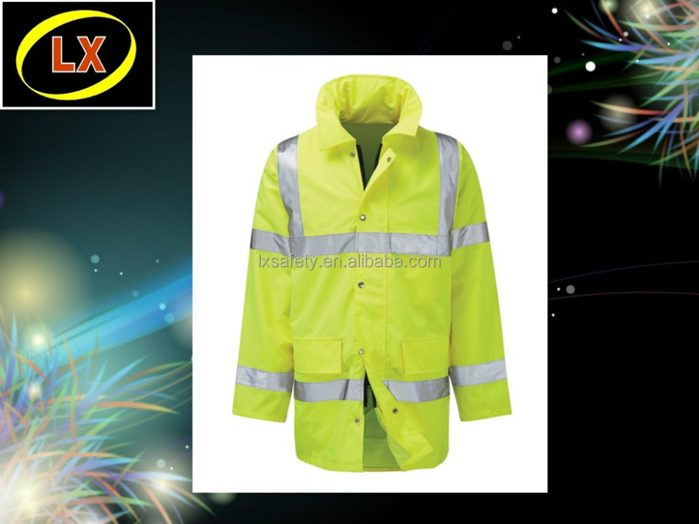Fluorescent Yellow Traffic Security Jacket