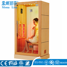 Far infrared sauna cabin I-013 lose weight sauna light wage room with natural jades background