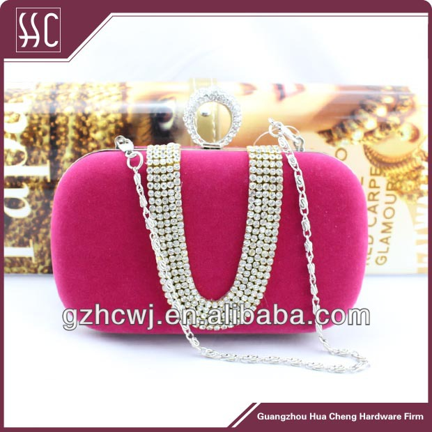 red color evening cluth, lady favor handbag, Guangzhou made purse
