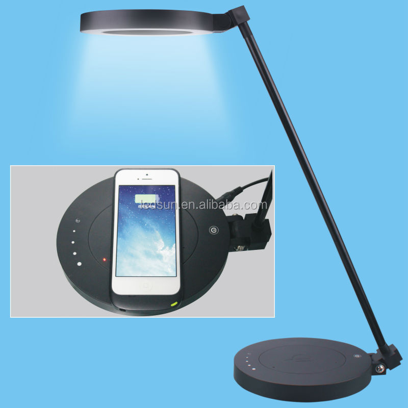 2016 Qi Wireless Charging Led Desk Lamp Touch Controlled
