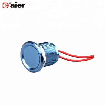 19mm Aluminum Plating IP67 Push Button Piezo Igniter