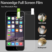 Perfect fit protector TPU material cell phone full body anti shock screen protector for Iphone pro 7