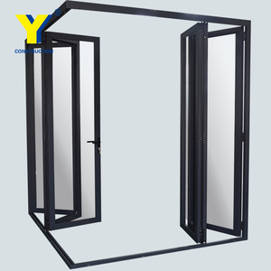 Corner joint commercial glass doors Double glass folding doors lowes glass interior folding doors