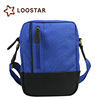 Sky Blue and Black Men Travel Casual Outdoor Shoulder Bags