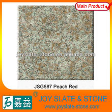 G687 peach red granite block for sale