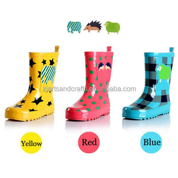 Cute elephant sheep rubber rain kids boots for wholesale
