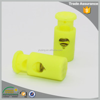 Low price garment apparel yellow nylon cord stopper