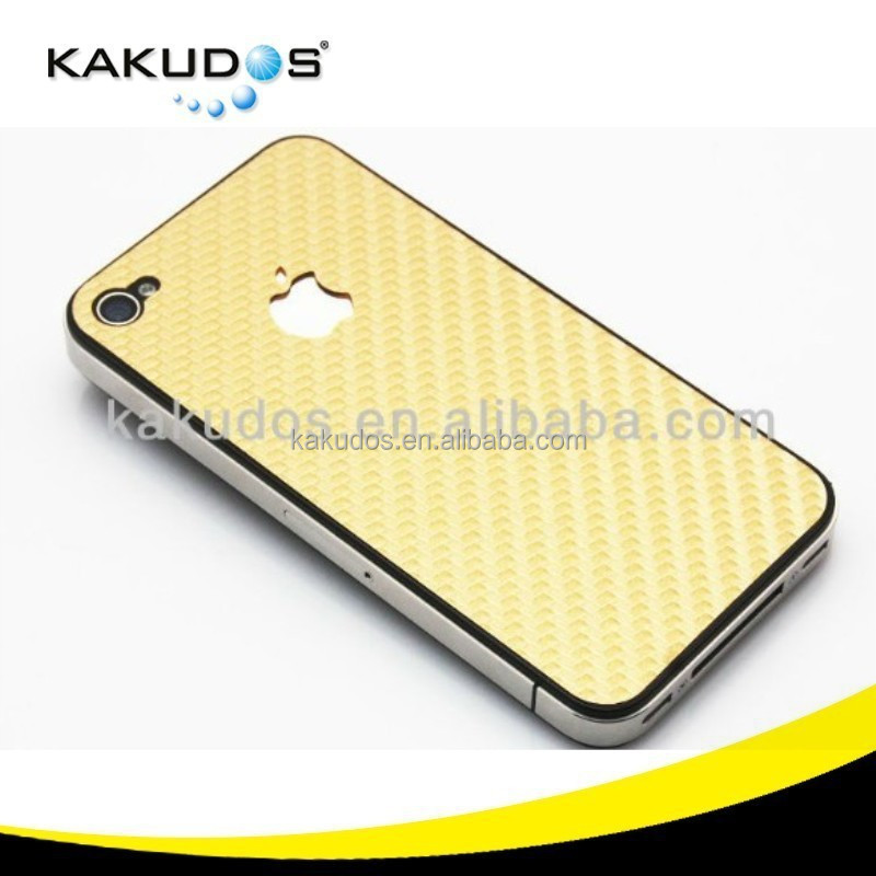 KKD 2015 Hot Sell High Quality Gold Body Skin for Iphone 5 Carbon Fiber Decal