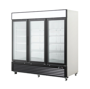 2000L Big Capacity Commercial Supermarket Beverage Cooer Refrigerator Glass Display Showcase With CE CB RoHS UL