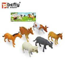 6 kinds ranch plastic animal model mixed miniature farm toys