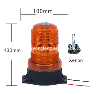 warning light 24V amber LED auto strobe light with Magnetic base Cigarette Lighter Beacon Warning Lights YL812B