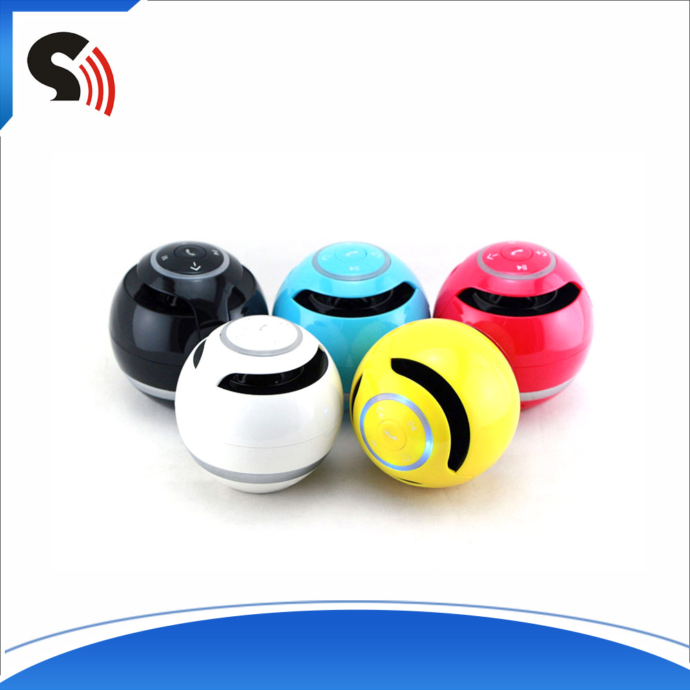 Hot Sale Mini Colorful Ball Shape Portable Bluetooth Speaker With TF Card