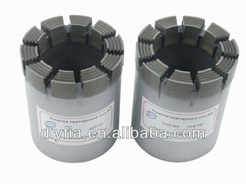 AQ BQ NQ HQ PQ rock bit / diamond core drill bits for hard rock