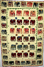 Elephant Applique Patch work Kantha Quilt