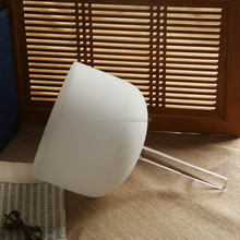 JINGDIAN Sound healing hand held frosted crystal quartz singing bowl
