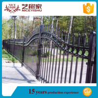 Cheap ornamental wrought iron fence/spear top fence/cast iron fence finials