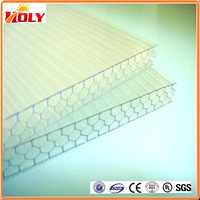 Professional manufacture factory directly hot sale polycarbonate honeycomb panels used greenhouse/awning/ skylight covers