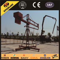 Concrete boom placer and spider concrete placing boom for sale