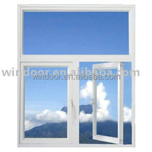 Prefabricated house cheap material(pvc) windows, weather resistant air conditioner window