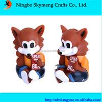 ECO friendly PVC fox shape saving bank piggy bank money box