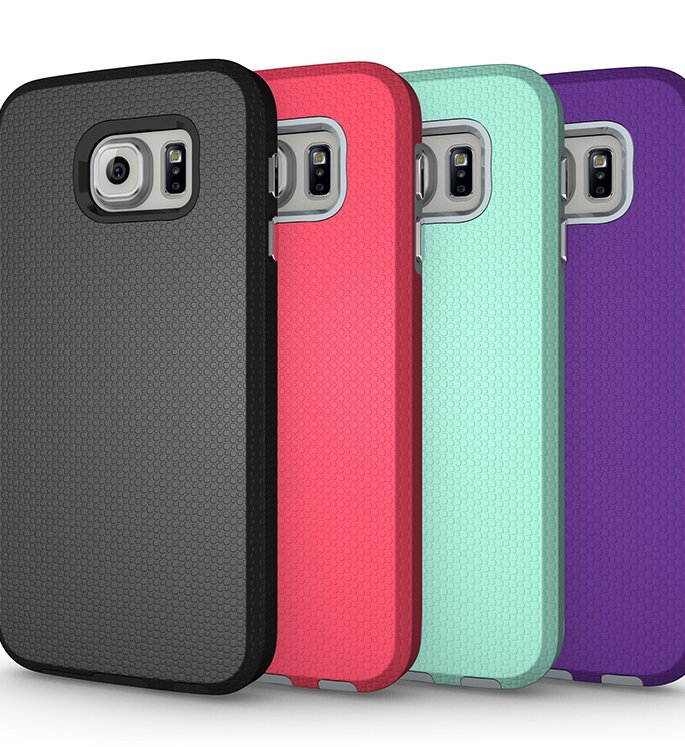 2016 trending products mobile phone accessory s line tpu+pc case for samsung galaxy s6