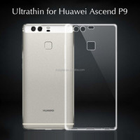Ultra-thin 0.3mm clearly transparent TPU case for huawei P9