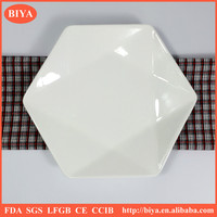 hotel plates all size wholesale customized star shape porcelain dinner plate for restaurant home ceramic six side dessert plate