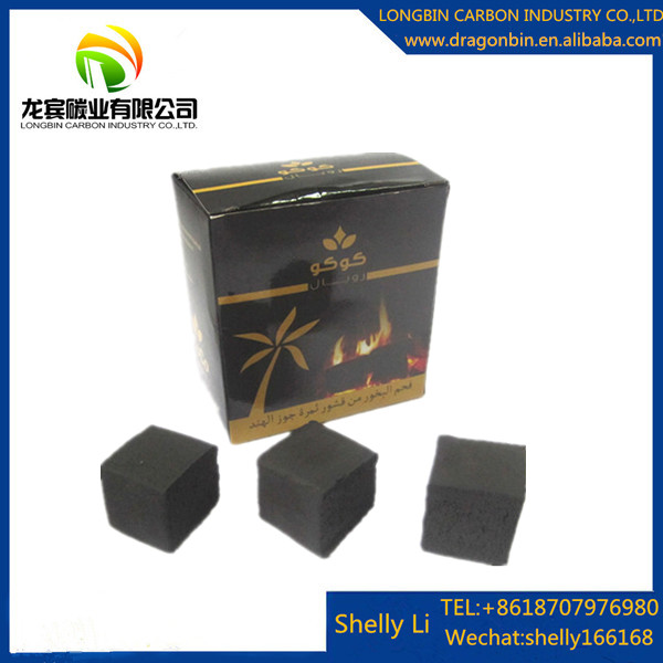 Long burning time grade one quality shisha application cube size 25*25*25mm natural coco coal