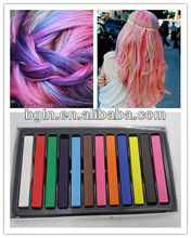 12 colours artist soft pastel for hair colour chalk use to hair color in stock