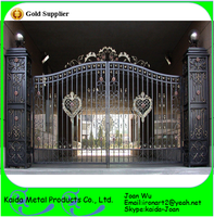 Bespoke/Customized Beautiful House Villa Wrought Iron Gates