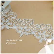 Wholesale custom water dissolving guipre embroidered lace for sarees borders