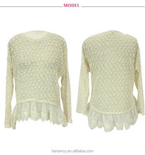Autumn long sleeve latest woolen sweater designs for ladies