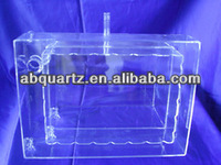 customized round bottom small size clear quartz glass boat for semiconduct and solar