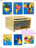 Montessori Puzzle Map of Europe,Montessori materials toys