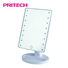 PRITECH China Factory Battery Operated Plastic Makeup Mirror With Lights