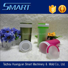 New design smooth <strong>flat</strong> cover transparent large double layer cup