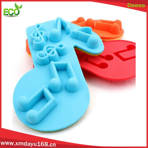 Novelty music note silicone ice molds, silicone ice cube for sale