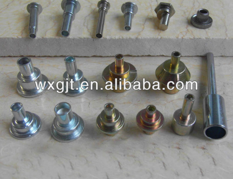 Aluminum/stainless steel/carbon steel semi hollow rivets