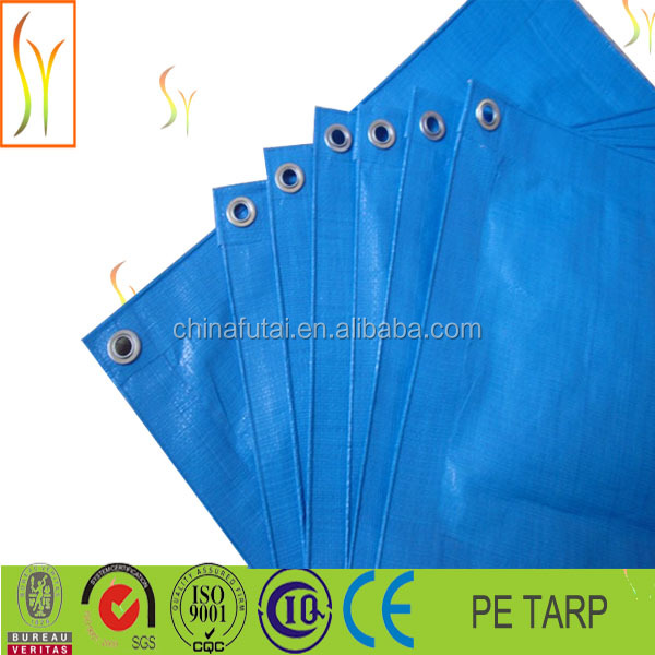 Popular 50gsm Blue PE tarpaulin In Dubai Market, Heavy Duty Waterproof PE Laminated Tarpaulin in Blue and Orange Color